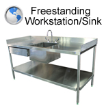 Freestanding Workstation and Sink
