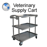 Veterinary Supply Cart